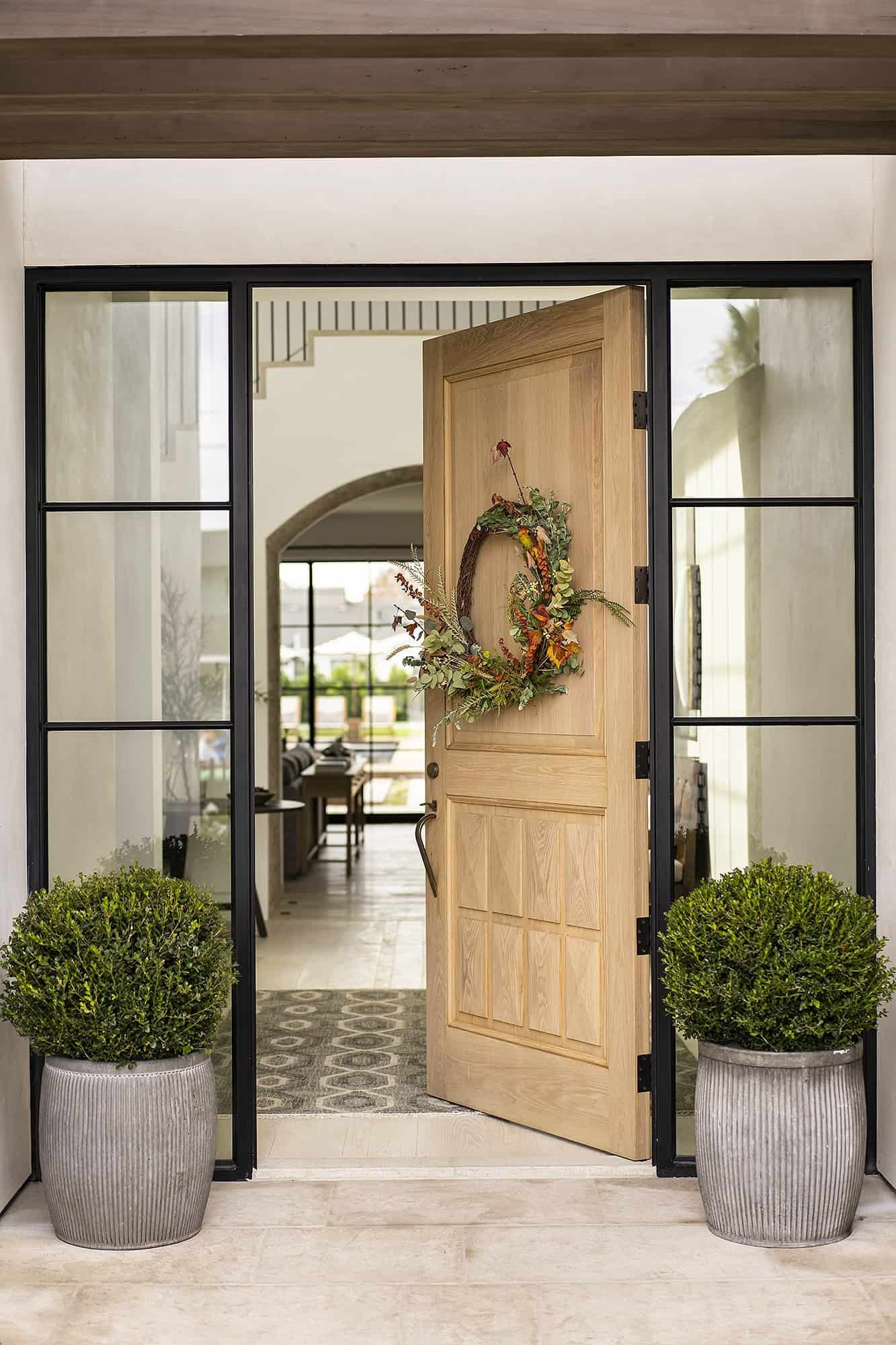 transitional-french-style-home-entry