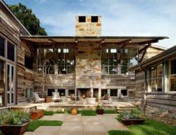 Hillside dwelling in Austin features modern barn-inspired elements