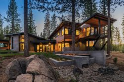 Fabulous prefabricated mountain modern home on Lake Tahoe