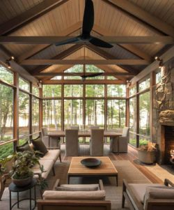 30+ Fabulous Screened-In Porch Ideas Boasting Woodsy Views
