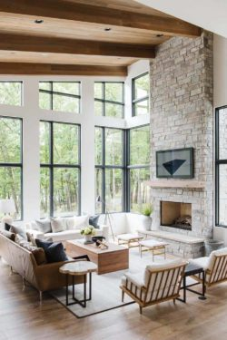 House Envy: Modern lake house in the Midwest with stunning details