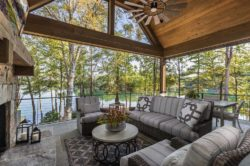 Beautiful rustic home surrounded by a tranquil setting on Lake Keowee